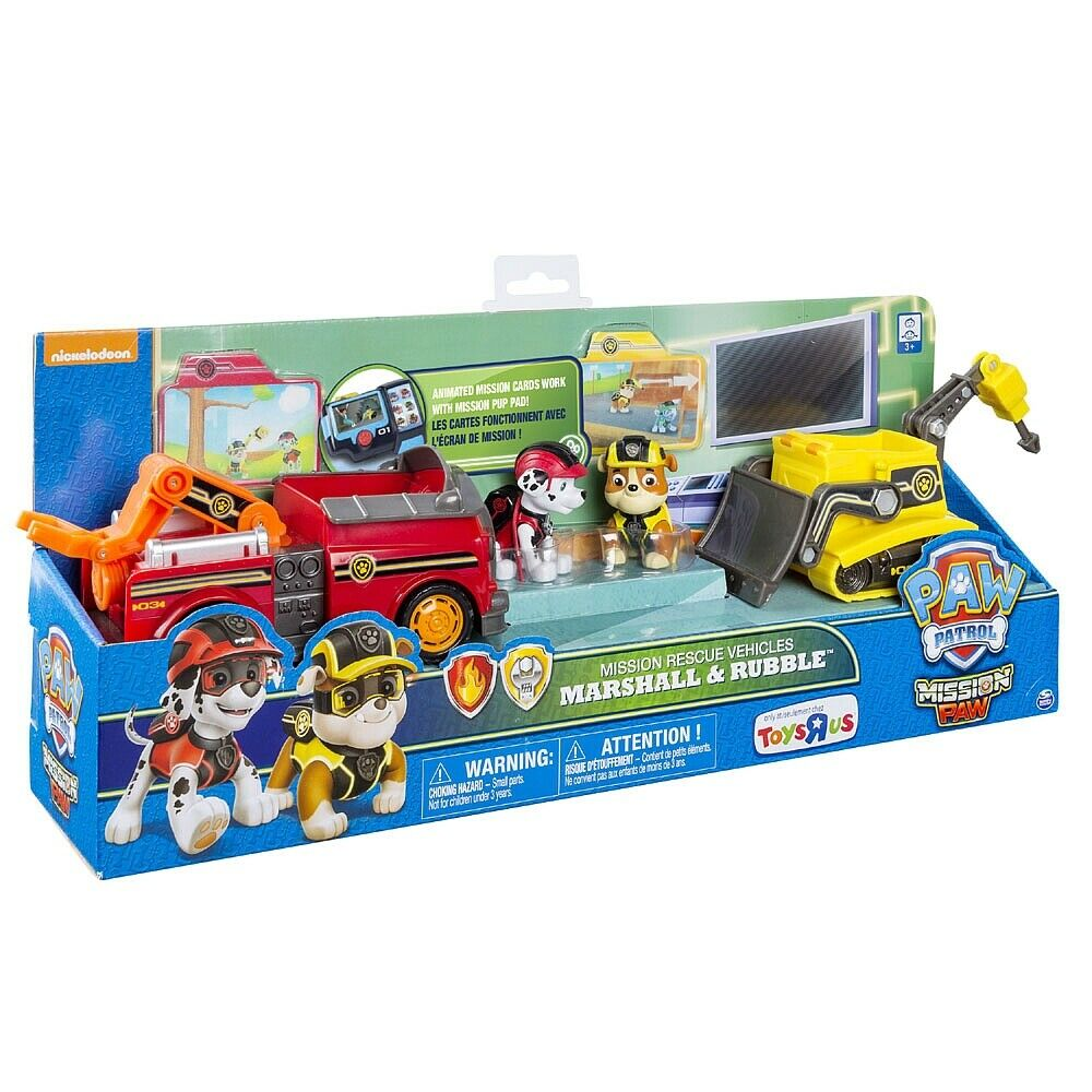 PAW PATROL MISSION PAW - MISSION RESCUE VEHICLES MARSHALL & RUBBLE   TRU EXCL.
