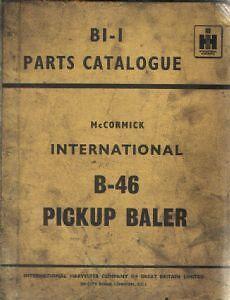 Mccormick internacional Enfardadora B46 piezas Manual-B 46