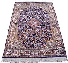 Orientteppich Kaschmir reine Seide 195 x 124 Seidenteppich Perser Teppich Brücke