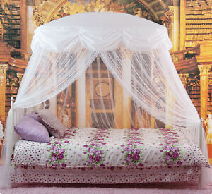 Image is loading NEW-Mosquito-Net-Bed-Canopy-White-Princess-bedding- & NEW Mosquito Net Bed Canopy White Princess bedding fits twin ...