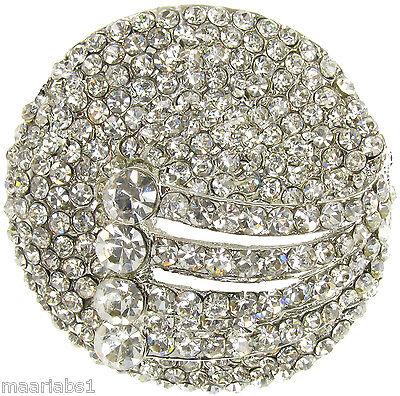 Plata Broche Diamante Broche Vintage Shoe Para Decoración De Pasteles Pin Novia-Nuevo-UK