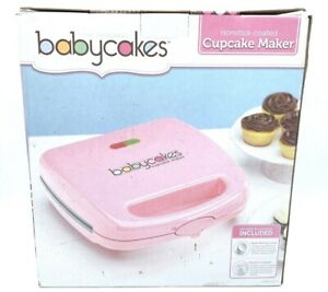 Babycakes-Full-Size-Cupcake-Maker-Pink-Makes-6-Cupcakes-Nonstick-Coated-in-Box