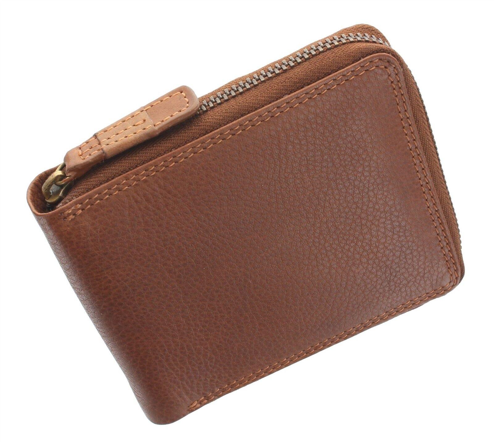 Visconti Darwin Collection HAWKING Leather Zip Round Wallet RFID blocking DRW31