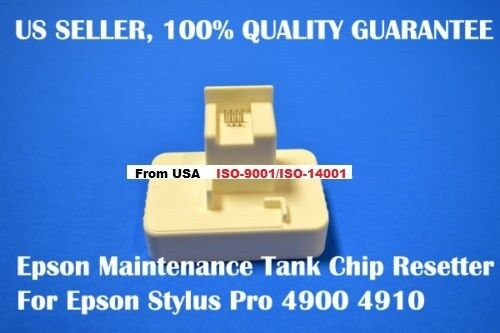 Epson stylus pro 4900 4910 Ink Maintenance Tank chip resetter reset waste tank
