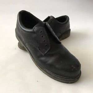 Dr-Martens-Airwair-Work-Safety-Shoe-Steel-Toecap-Black-Leather-4-Hole-UK-10