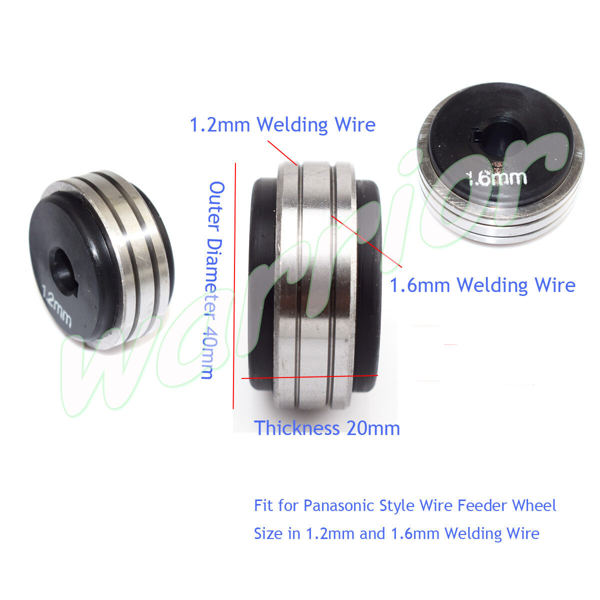 MIG Wire Feeding Feeder Wheel Consumables 1.2/1.6mm Rollers For ...