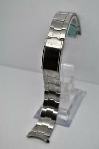 Image Is Loading Seiko 44q6jb 19mm Stainless Steel Oyster Style Bracelet
