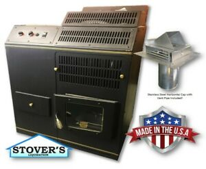 CORN-STOVE-Adjustable-BTU-Up-to-72-000-BTU-039-s-Direct-Vent-with-Vent-Pipe