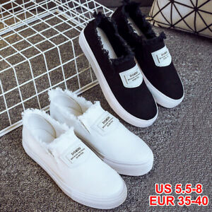 New-Women-Espadrilles-Classic-Slip-On-Flat-Round-Toe-Deck-Shoes-Loafers-Sneakers