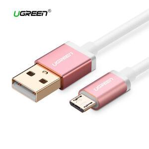 Cable-Micro-USB-carga-rapida-movil-y-tablet-UGREEN-rosa-metalizado-1M-2M-3M