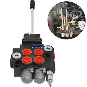 Hydraulic-Directional-Control-Valve-Tractor-Loader-w-Joystick-2-Spool-11-GPM