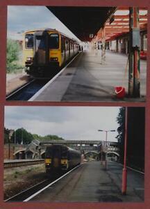 Exeter-Station-1996-Barnstaple-Train-150247-amp-153368-photographs-QV-441