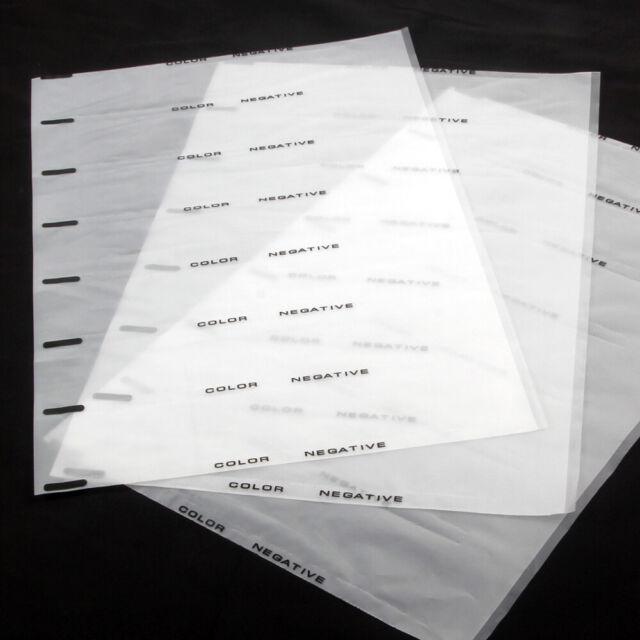 Print File 35mm Size Top-Load Archival Storage Pages for Slides Binder Only - 25 Pack x 2 Holds 20 Slides