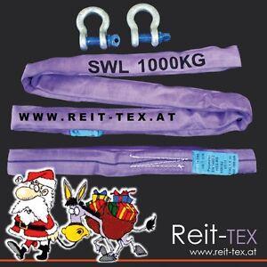 SLACKLINE-Baumschutzset-REIT-TEX-4-teilig2Schaekel3-25to-2Rundschlingen1tox1-5m