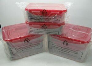 Lock-amp-Lock-10-Piece-Nestable-Storage-Set-w-2-Handle-Lids-Air-Tight-Red