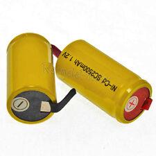 40 Sub C SubC Solder Tab NiCd 1.2v 2500mAh Battery Yellow