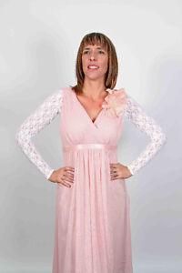 Stretch Lace Bridal Sleeves Wingz Bolero UK 6 8 10 12 14 16 18 20 22 24 26 28