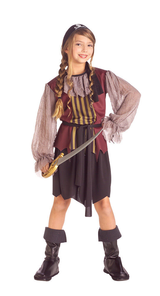 Queen of the Sea Caribbean Pirate Wench Girl Dress Up Halloween Child Costume