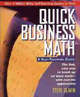 Quick Business Math: A Self-teaching Guide by Steve Slavin (Paperback, 1995)