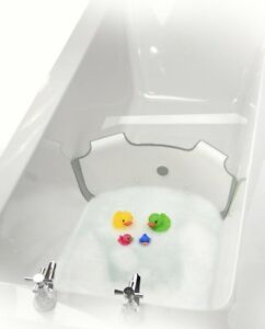 NEW-BabyDam-Bathwater-Barrier-Baby-Bath-Tub-White-Grey