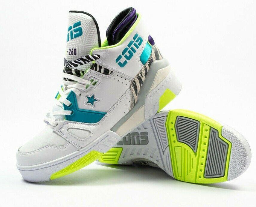 Nuevo X Converse ERX 260 Just Don mediados Pack Retro blancoo verde Azulado Animal 163783C Talla 12