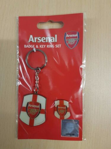 Arsenal FC Badge /& Key Ring Set.