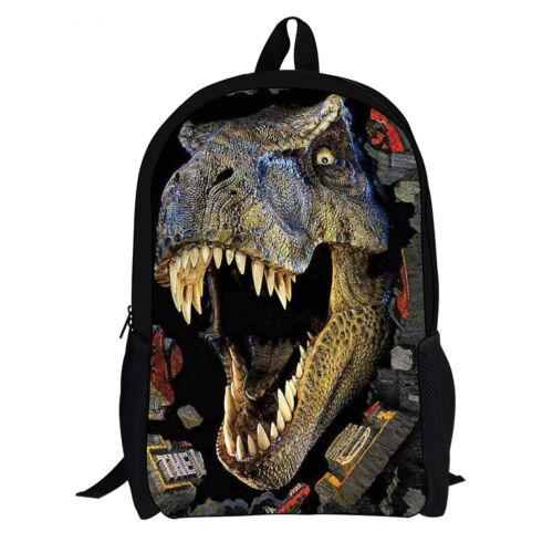 Fashion Durable Dinosaur Printed School Bag for Boys Men Backpacks School Bag