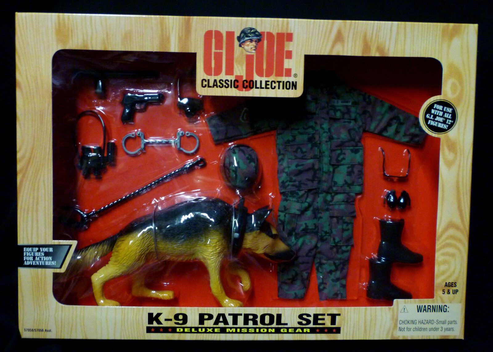 12  Gi Joe K-9 Patrol Mission Gear Set New 1998 Hasbro German Shepard Amricons