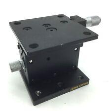 Melles Griot Vertical Translation Stage Amp Micrometer 65mm X 65mm Travel 10mm