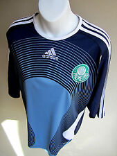 PALMEIRAS Football Club adidas Soccer rare blue JERSEY Embroidered LARGE