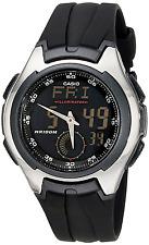 "Casio Men's AQ160W-1BV ""Ana-Digi"" Stainless Steel Watch with Black Band"