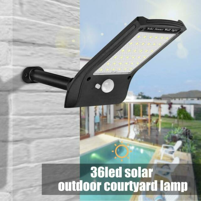 2pcs Outdoor 36LED Solar Power PIR Motion Sensor Wall Street Light Garden Lamp