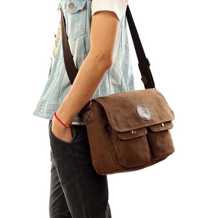 Vintage Men's Canvas Messenger Shoulder Bag Crossbody School Book Bags Satchel