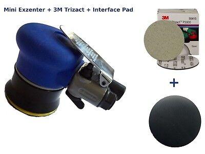 Begeistert Mini Exzenterschleifer 75 Mm + Schleifteller + 3m Trizact 75 Mm + Interface Pad