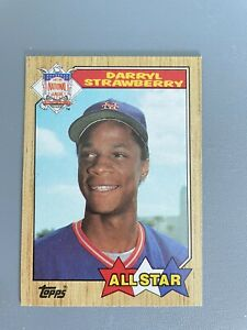 1987 Topps Card #601 Darryl Strawberry New York Mets All Star NmMt Free Ship!