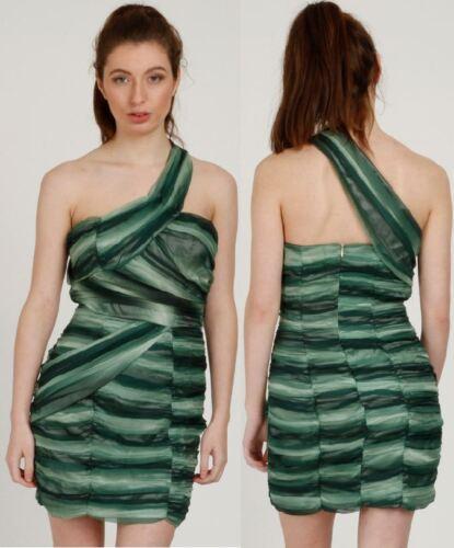 Women Ruched Shaded CHIFFON SWEETHEART Neckline ASYMMETRIC One Shoulder DRESS UK