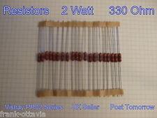 RESISTENZE 330 ohm Film Metallico *** LOTTO DI 40 *** 2 WATT Vishay PR02 Series