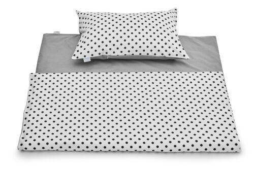 Bed Set Toddler 135 x 100 cm Pillowcase Duvet Cover 2PC Dots
