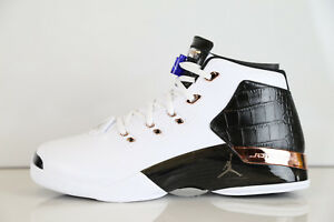 c8bbf914543 Air Jordan Retro 17 + Copper 832816-122 7.5-12 white black 11 1