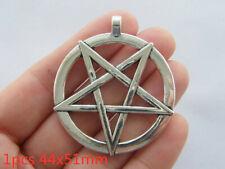 20//50//100 pcs Very beautiful pentagram silver  charm pendant 25x20 mm