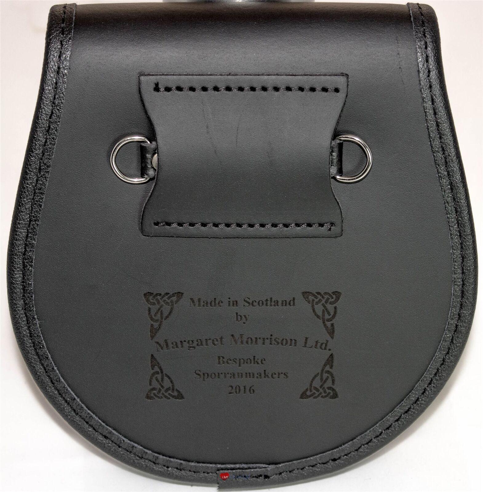 Crosbie Leather Day Sporran Scottish Clan Crest