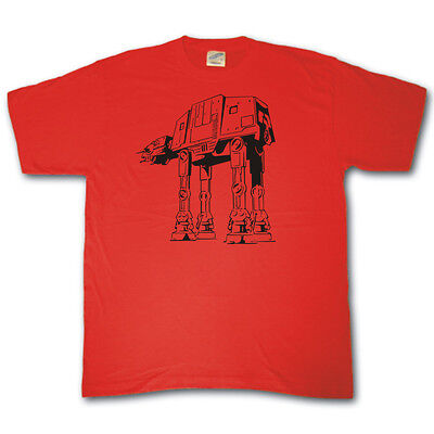 AT-AT howling at the Death Star Wars parody spoof funny t-shirt atat Empire