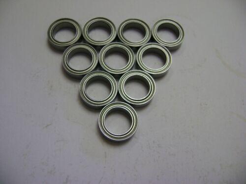 10 NMD MR128-ZZ Bearings 8x12x3.50 ID=8mm OD=12mm WIDTH=3.50mm