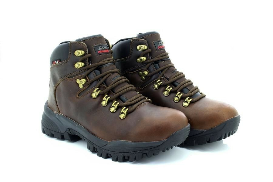 Johnscliffe CANYON CANYON CANYON Unisex Leather Jontex Hiking Boots Conker Brown Oily Leather c93130