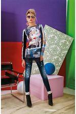 DENNY ROSE FELPA maglia felpa maxi maglia  art.51dr62003 con spilla tg. S