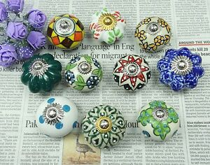 image is loading multicolor decorative knobs cabinet knobs lot of 10 - Decorative Cabinet Knobs