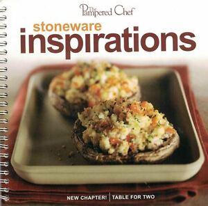 The-Pampered-Chef-STONEWARE-INSPIRATIONS-Cookbook-Spiral-Bound-2005