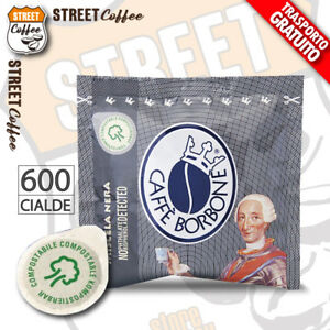 600 Cialde Carta Caffè Borbone ESE 44 mm Miscela Nera Nero Filtrocarta