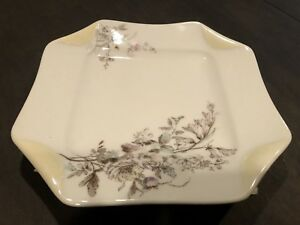 Antique-19th-Century-Haviland-amp-Co-Limoges-Napkin-Fold-Plate-1875-1882