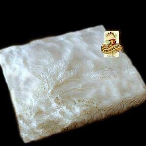 White Shag Area Rug Rectangle Faux Fur Sheepskin Accent
